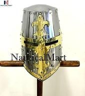 Worlds Largest Collection for Armoury,helmets,Nautical,Fantasy & Gifts. Crusader Helmet, Crusader Knight, Helmet Armor, Knights Helmet, Knight Halloween Costume, Medieval Knight Armor, Gladiator Armor, Warrior Of The Light, Roman Armor