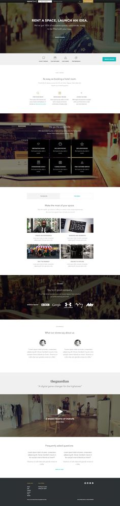 Appear Here site pages by Ben Garratt