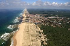 Mimizan stretches for 10km along the coast of Les Landes in southwestern France.