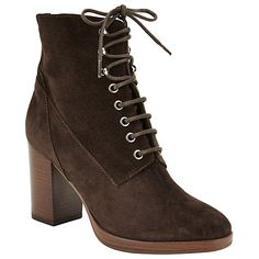 Buy John Lewis Portia Lace Up Ankle Boots, Chocolate Online at johnlewis.com