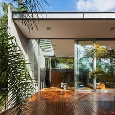 Gallery of LLM House / Obra Arquitetos - 38 Tropical Architecture, Interior Architecture, Interior Design, Dream Home Design, House Design, Patio, Backyard, Architectural Materials, Outdoor Living