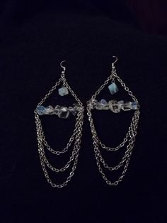 Opalite Ice Queen Earrings by CellDara on Etsy