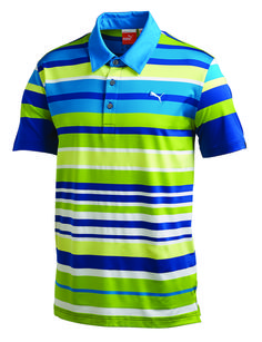 32a2cab7 Puma Roadmap Stripe Polo 565488 $59.49 (You save $10.51) Rickie Fowler, Mens  Golf