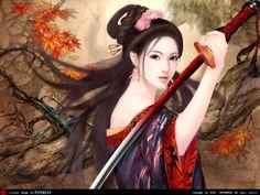 An oriental swordswoman by ~aquq001