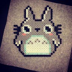 Totoro perler beads by mrcodym