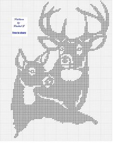 New Crochet Christmas Deer Cross Stitch Ideas Crochet Deer, Crochet Cross, Filet Crochet, Crochet Chart, Cross Stitch Alphabet, Cross Stitch Animals, Cross Stitch Charts, Cross Stitch Patterns, Cross Stitching