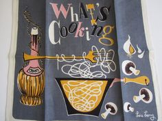 MWT Vintage Towel Whats Cooking by NeatoKeen on Etsy https://www.etsy.com/listing/106315060/mwt-vintage-towel-whats-cooking