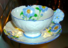 Lovely ROYAL PARAGON England Cup & Saucer Set With Flower Handle