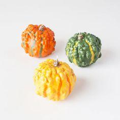 Autumn Gourd Candles - Set of 3 | dotandbo.com