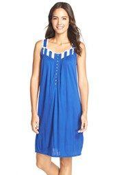 Eileen West Lace Trim Short Nightgown