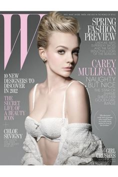 Carey Mulligan, shot for W