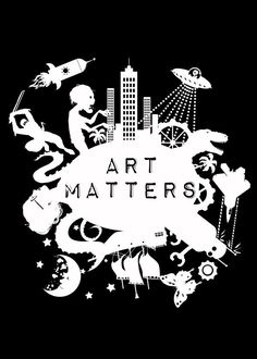 Art Matters: White on Black Background. With art programs being cut l  Art Matters: White on Black Background. With art programs being cut l Gallery quality print on thick 45cm / 32cm metal plate. Each Displate print verified by the Production Master. Signature and hologram added to the back of each plate for added authenticity & collectors value. Magnetic mounting system included.  EUR 39.00  Meer informatie