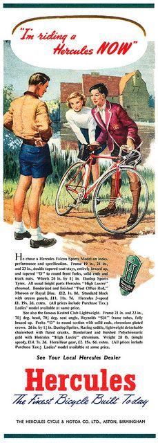 1950 Hercules Bicycles ad