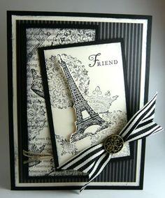 black and white Paris