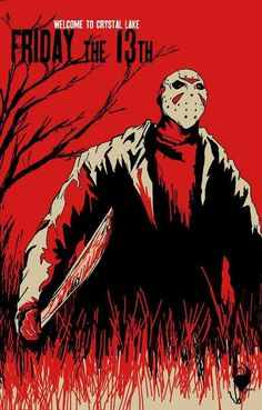 Welcome to Camp Crystal Lake! Jason will take care of you! Horror Icons, Horror Movie Posters, Horror Movies, Slasher Movies, Jason Friday, Horror Artwork, Jason Voorhees, Halloween Horror, Halloween Skull