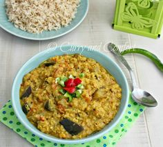 Curry and Comfort: Eggplant and Lentil Curry (Vegan)