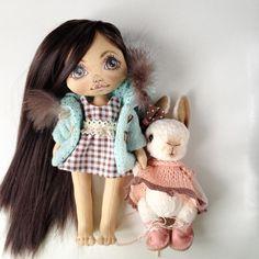 Девочки кажется подружились☺️#куклаолли #куколка #кукла #куклакупить #куклаизткани #олли #зайчик #заяц #заяцткдди #тедди #кролик #крольчонок #doll #dolls #artdoll #textilldoll #bunny