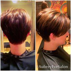 Short Stacked Hair, Short Thin Hair, Short Hair With Layers, Short Hair Cuts For Women, Short Wedge Hairstyles, Cute Hairstyles For Short Hair, Curly Hair Styles, Short Hair Makeup, Wedge Haircut