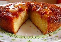 Pear-caramel cake  Körtés-karamellás süti (NoSalty)