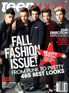 One+Direction+Lands+'Teen+Vogue'+September+2013+Cover