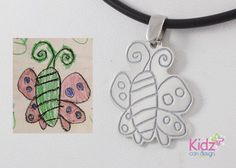 Cute butterfly #kidsartjewelry #kidsart #animals