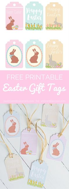 Download these Free Printable Easter Gift Tags for all your gifts this Easter. You get a sex of 6 pastel colored tags!