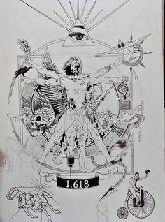 doodle man virtruvian