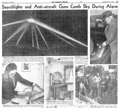 "On this day, Feb 24, 1942, one of the largest documented UFO sightings took place over Los Angeles, lasting until early Feb 25. It was later deemed ""Battle of Los Angeles."""