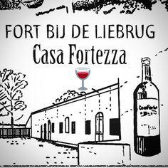 Stempelen op Fort bij de Liebrug? Casa Fortezza opent de deuren tussen 14 en 17 uur voor een wijnproeverij #Stampions #FortbijdeLiebrug