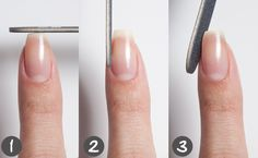 Square Filed Nails images