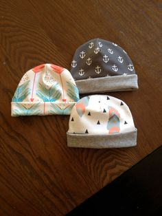 d801755335d Organic Cotton Fold Over Beanie for Kids and Babies - Printed Beanie Hat -  Unique Hats for Babies and Kids