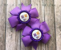 BFF Hair Bows - Best Friends Forever by binspiredbylife on Etsy