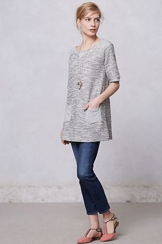 shimmered boucle tunic