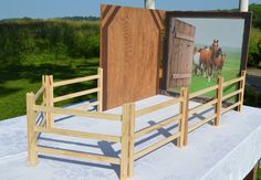 HORSE STABLE BARN kit fits American GIrl Doll by QueenEmmaDesigns, $85.00