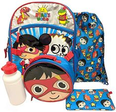 online shopping for Ryans World 16 Backpack Set from top store. See new offer for Ryans World 16 Backpack Set Back To School Backpacks, Kids Backpacks, Ryan Toys, Cinch Sack, Rolling Backpack, Insulated Lunch Bags, Bear Paws, Girl And Dog, Backpack Bags