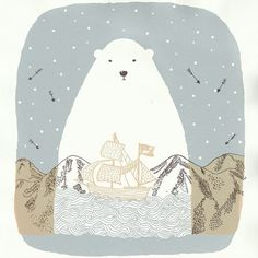 "7,238 mentions J'aime, 19 commentaires - Ohh Deer (@ohhdeer) sur Instagram : ""An adorable snowy polar bear by Luisah. ⠀ ⠀ #bear #polarbear #design #illustration #illustrators…"""
