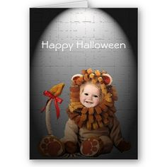 Lions and Tigers and Scares Halloween Card by SteveBrownleeArt
