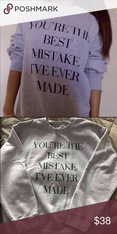 Best Mistake (Ariana Grande) Sweatshirt ON HOLD Worn once // washed once // official merch from ariana grande's website Ariana Grande Sweaters Crew & Scoop Necks
