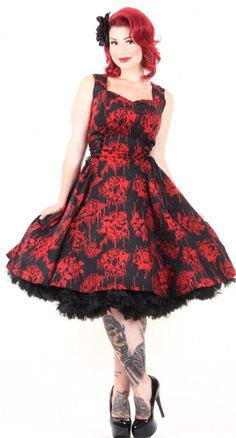 Play up your vamp side with the BellaDress from Hell Bunny