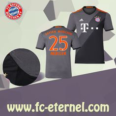 fc-eternel Maillot Bayern Munich MULLER 25 Exterieur 2016 2017 Flocage 05f4bf3c2