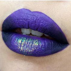 Bewitching Glittery Purple and Black Lip Look with Pretty Zombie Cosmetics Liquid Lipsticks! | Prettify Your Life