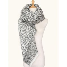 #AdoreWe #RoseWholesale Rosewholesale Leopard Pattern Square Wool Blend Warm Scarf - AdoreWe.com