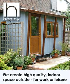 The full height glazing on this smart garden office will for Build your own garden office