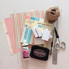 Choose some pattern papers (I'm using G45 Come Away with Me paper collections here) for your suitcases... Gather your supplies; list at top right hand corner of this guide...