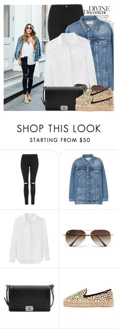 """""""2551. Street Style"""" by chocolatepumma ❤ liked on Polyvore featuring Oris, Topshop, MANGO, Ray-Ban, Chanel and Soludos"""