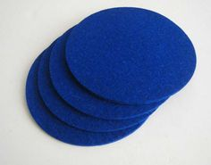 Royal Blue Felt Coasters, Blue Drink Coasters, Table Coasters, Blue Felt Coasters. $13.00, via Etsy.
