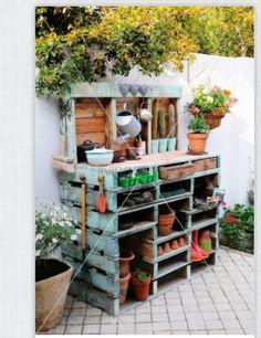 Upea puutarhapöytä!