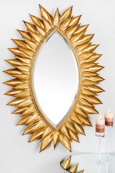 Sunburst Leaf Mirror