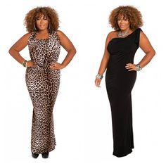 b8577231f61 Ashley Stewart Dress in Animal Print and Black