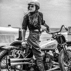 Motorcycle Girls Pics Every Guy Needs to See - 2020 Overview Vintage Cafe, Vintage Bikes, Lady Biker, Biker Girl, Cafe Racer Girl, Motorcycle Manufacturers, Old Motorcycles, Its A Mans World, Cycling Art